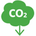 An icon symbolising the reduction of the carbon footprint.