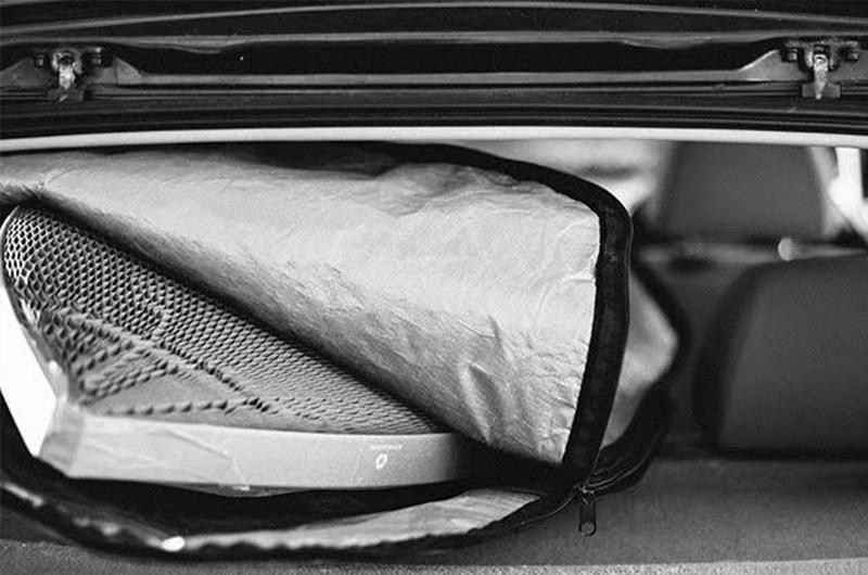 Flexi-Hex lite in a boardbag