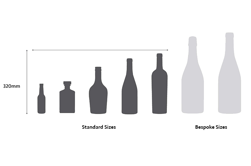Flexi-Hex sizes for plastic free bottle packaging
