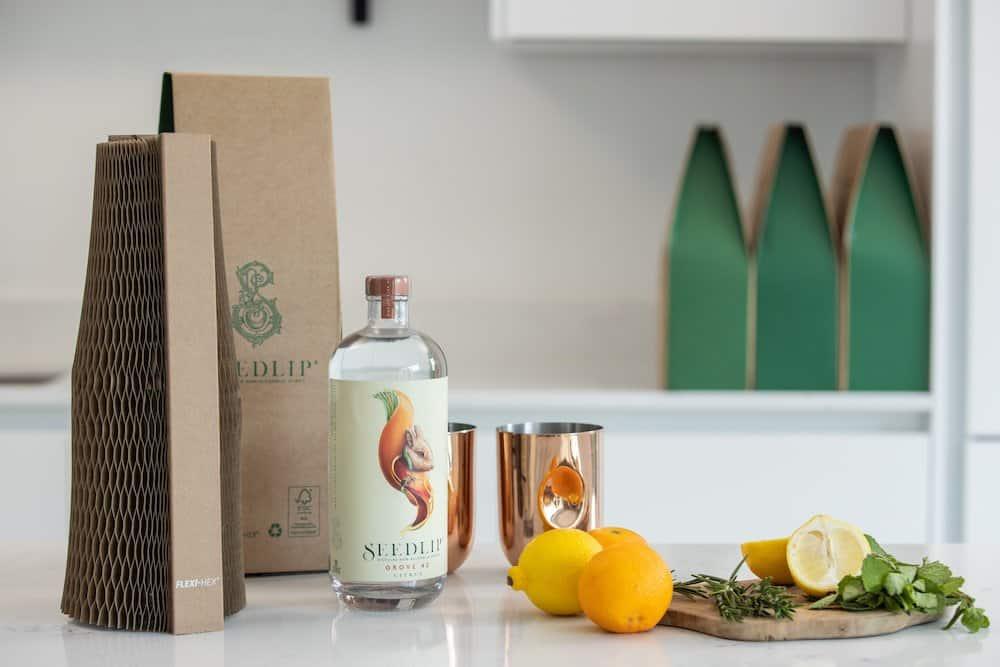 Seedlip branded Flexi-Hex packaging
