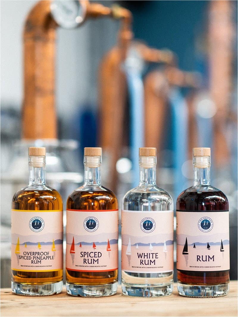 Two Drifters rum sustainable brand
