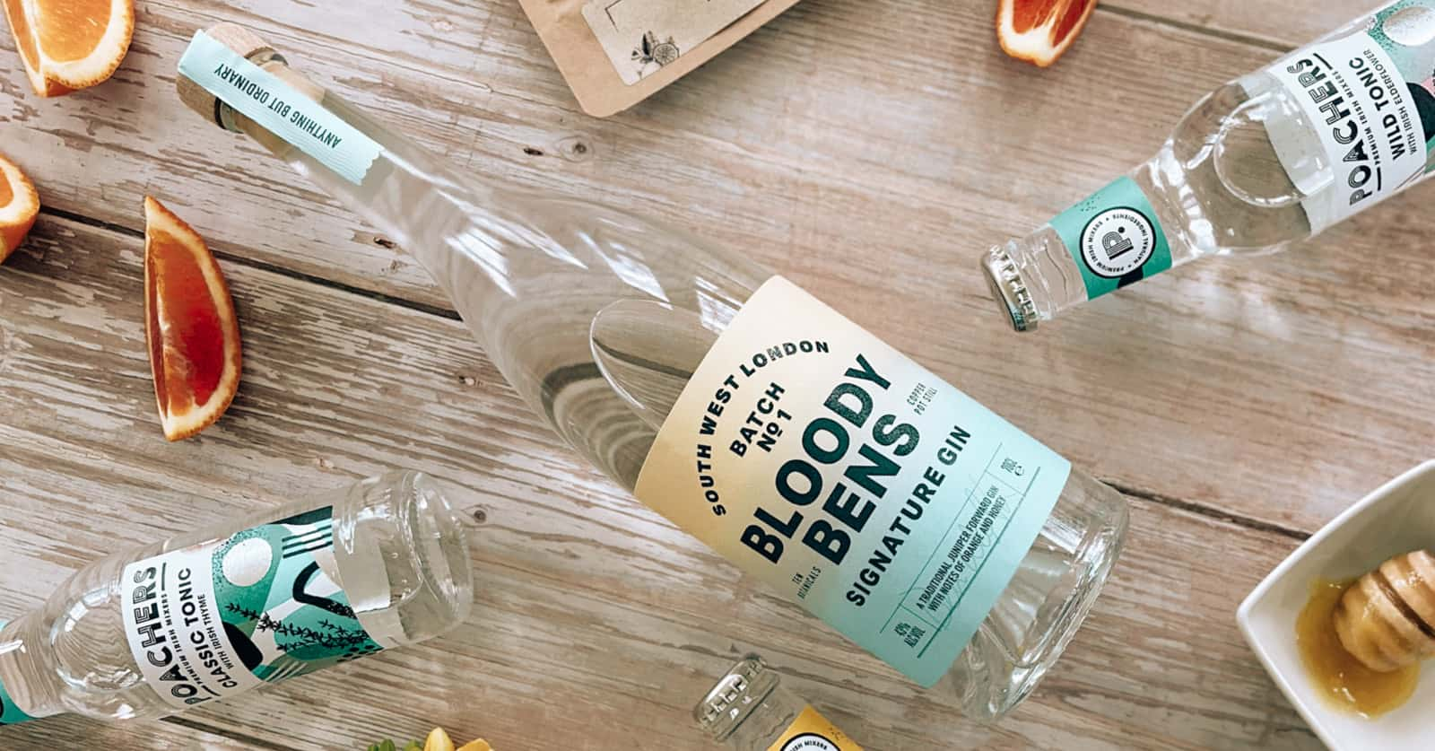 Bloody Bens Gin Flexi-Hex Eco-Friendly Bottle Packaging