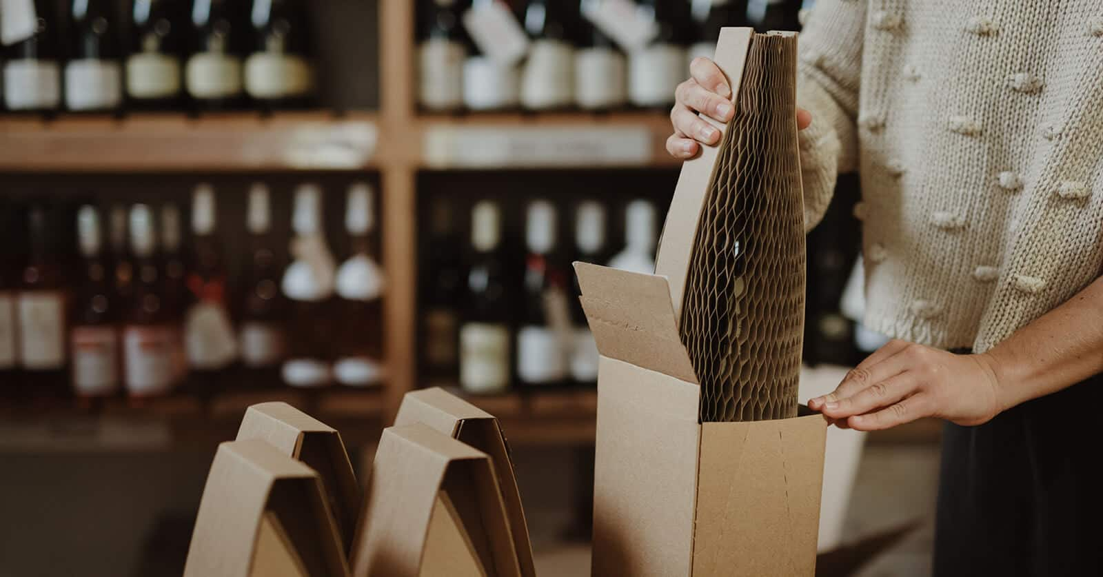 Flexi-Hex EcoFriendly Wine Bottle Packaging