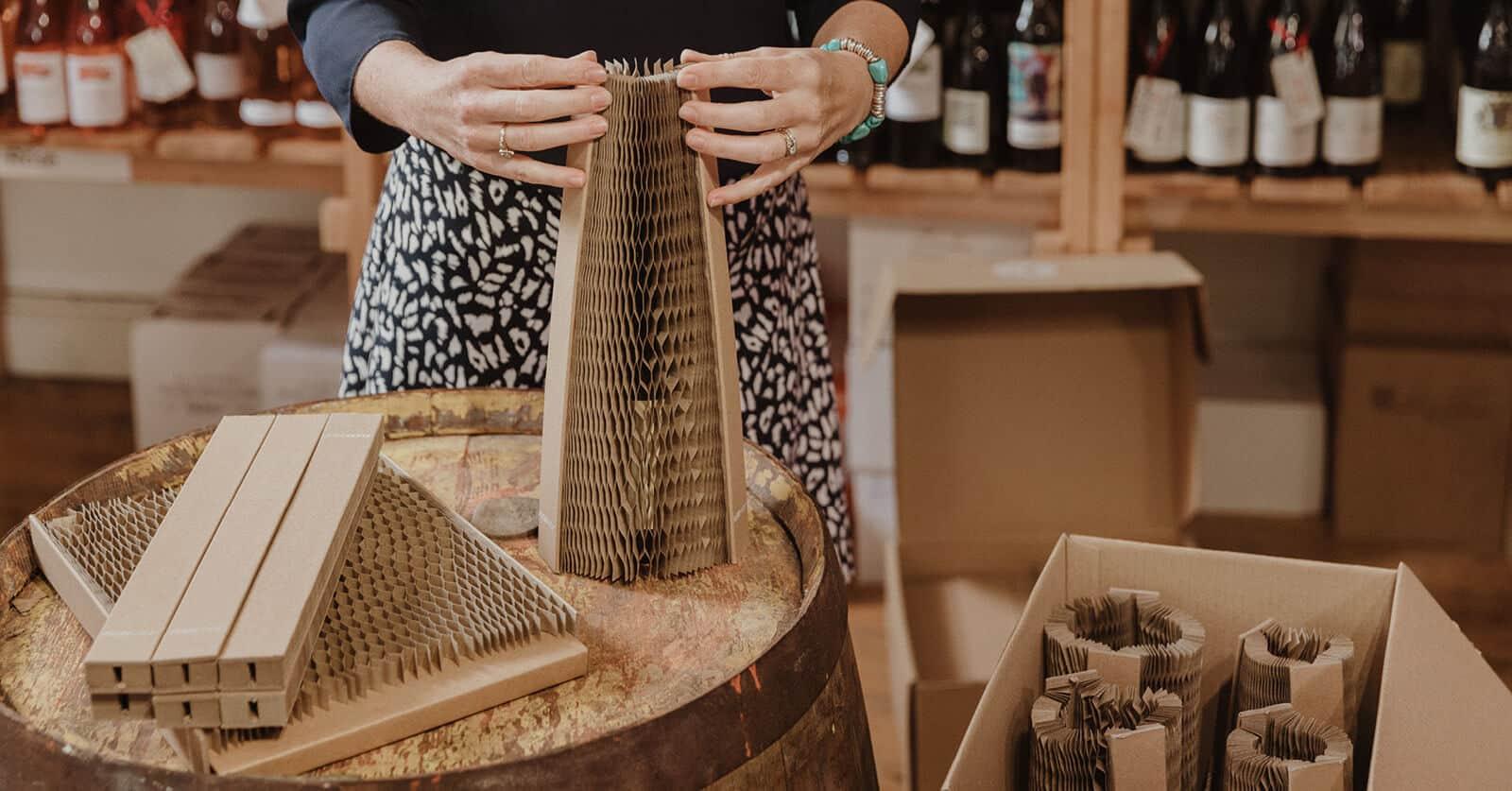 Flexi-Hex Sustainable EcoFriendly Wine Bottle Packaging English Wine Week
