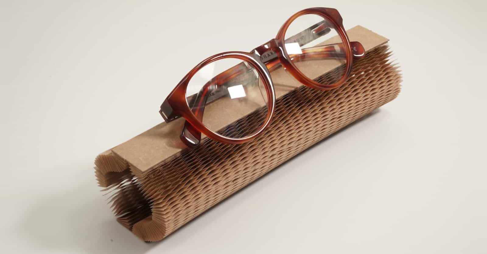 Bird Eyewear use Flexi-Hex Air paper packaging to protect sustainable glasses