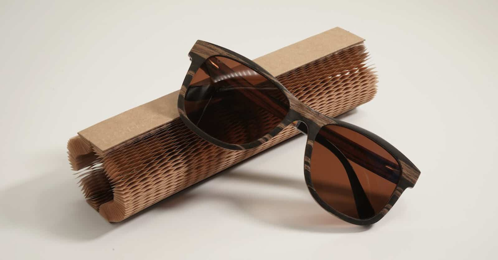 Bird Eyewear use Flexi-Hex Air paper packaging to protect sustainable sunglasses