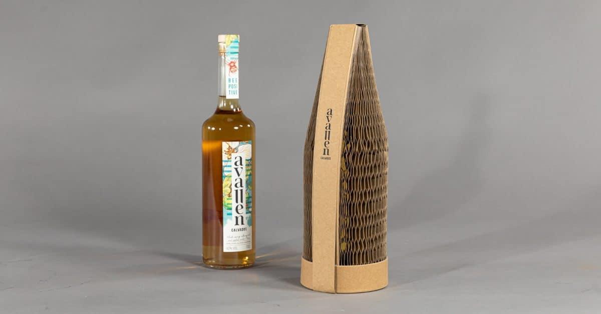 Avallen Spirits Eco-Friendly Flexi-Hex Paper Packaging for Bottles
