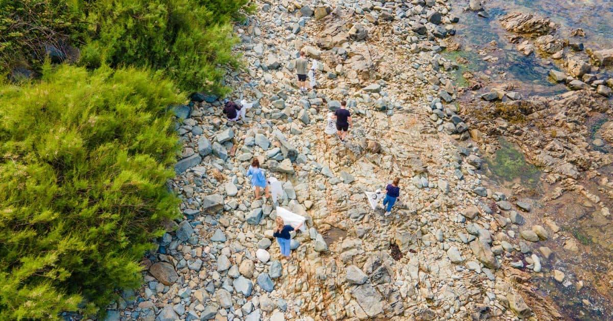 Flexi-Hex Team Beach Clean in Cornwall