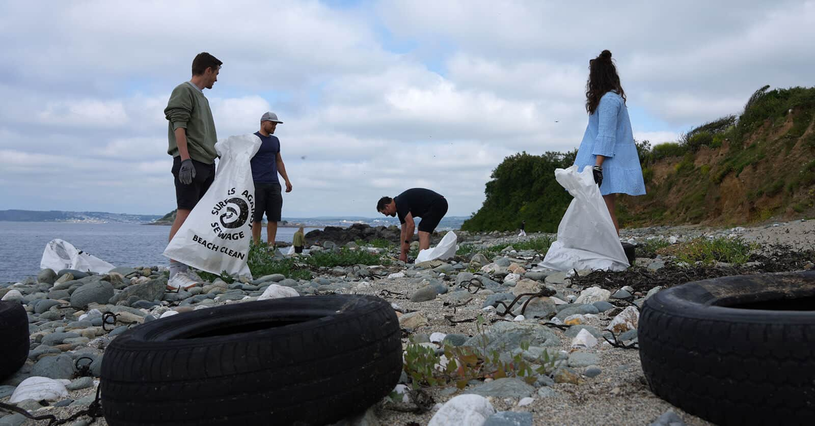 Flexi-Hex Collecting Plastic Waste on Beach
