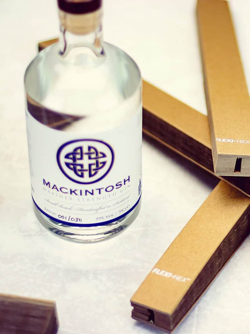 Flexi-Hex Eco-Friendly Packaging for Mackintosh Scottish Gin
