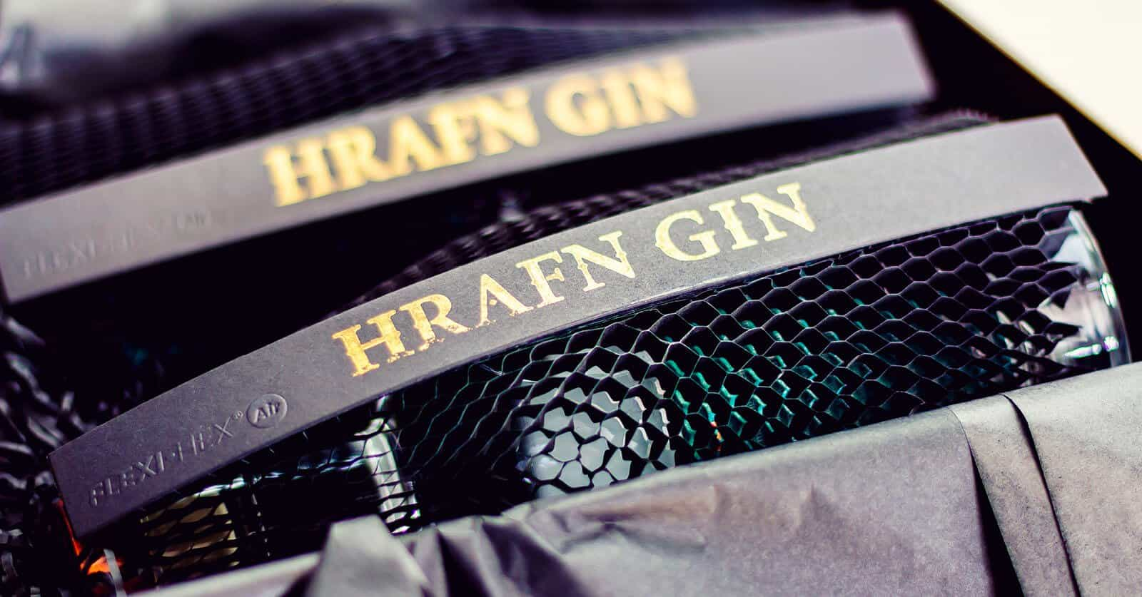 Flexi-Hex Sustainable Botle Packaging for Raven Gin