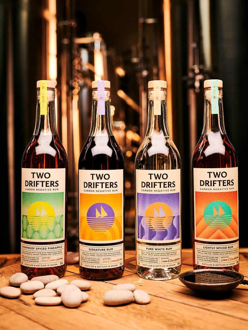 Two Drifters Rum Sustainable Protective Bottle Packaging